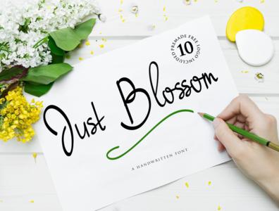 Just Blossom handwritten Font