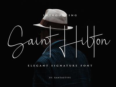 Saint Hilton design market creative fontself handlettering type logo brand font lettering branding rantautype