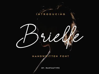 Brielle freebies fonts market elegant luxury font design branding design design type logo brand font lettering branding rantautype