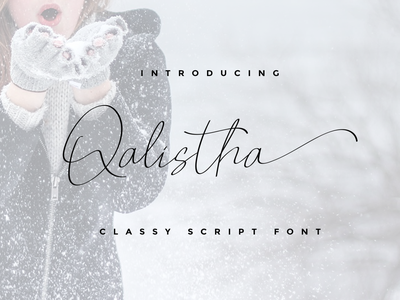 Qalistha element envanto creative market freebies font awesome font design design type logo brand font lettering branding rantautype