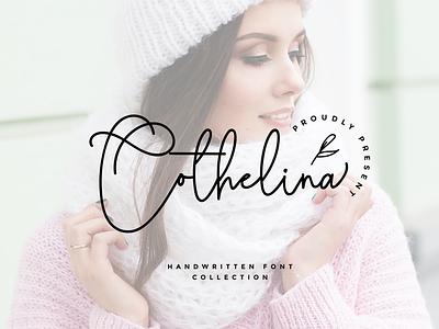 Cothelina lovely sweet rantaustudio envanto creative market font design logo design brand type font lettering branding rantautype