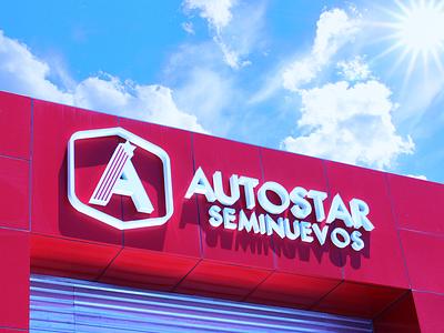 Logo Autostar diseño mexican design diseño gráfico flat logotype logo mexicali logo design branding