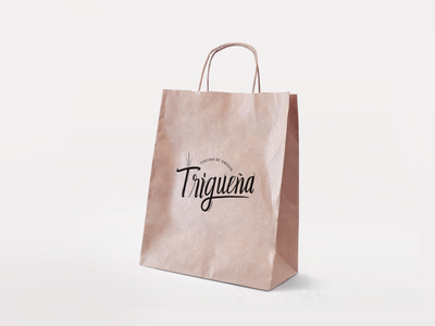 Naming / Logo / branding Trigueña restaurant logo healthy food diseño gráfico mexican logo design mexicali branding