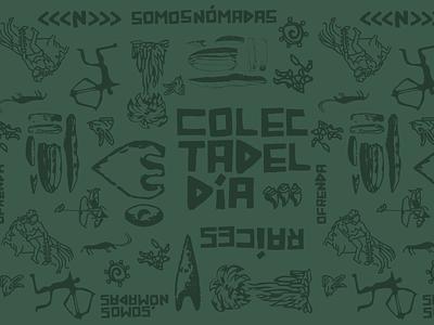 Nomada Pattern handwritten tipografia ilustracion mexicano design flat illustration logo diseño gráfico logo design mexicali branding
