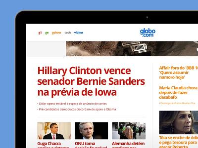 new globo.com homepage globo clean type feed responsive news editorial home homepage