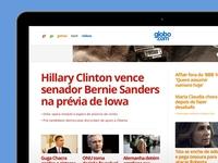 new globo.com homepage