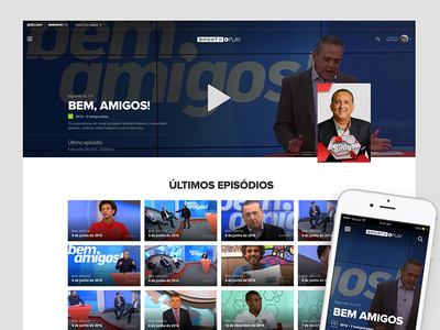 Cover web video tv section responsive header cover