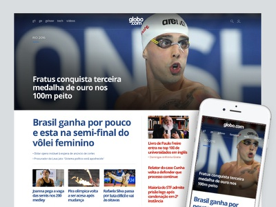 Globo.com Olympic Highlight olympics news cover highlight home