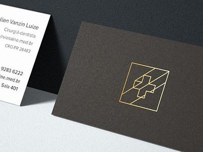Vie Saine - card gold black logo graphic design business card card