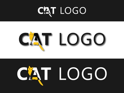 Cat Logo Design Template sign white silhouette illustration vector element kitten cat logo pet black animal