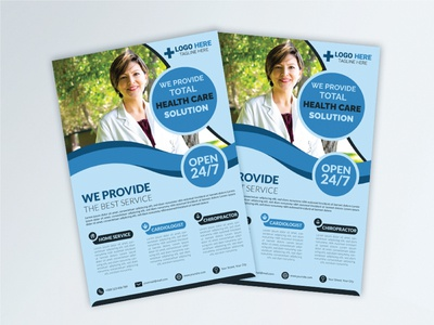 Health Care Medical Flyer Design Template template concept design vector graphic brochure business banner layout corporate magazine leaflet