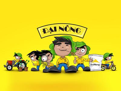 Dai Nong fertilizer's mascot character illustration