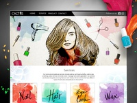 Cactus Studio and Spa website layout
