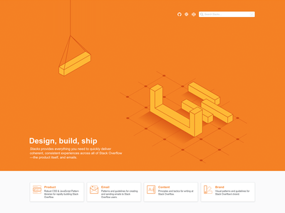 Stackoverflow.design illustration homepage design design system