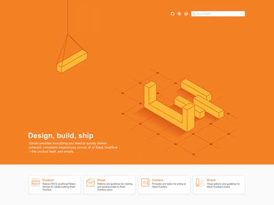 Stackoverflow.design illustration homepage design design system