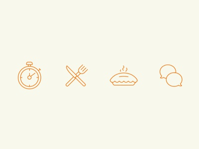 Icons support menu pie clock line icons ui design iconography