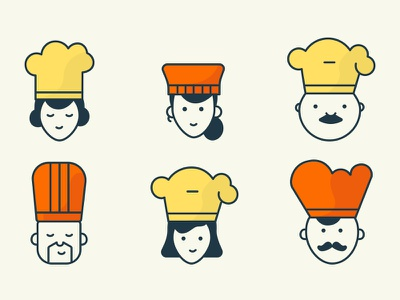 Chefs food chefs ui design illustration