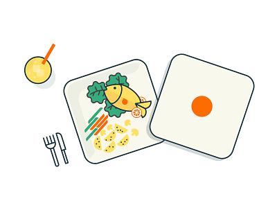 Meal Ready meal delivery ui design illustration