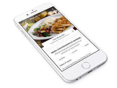Menu Details webdesign foodie layout typography ux ui food