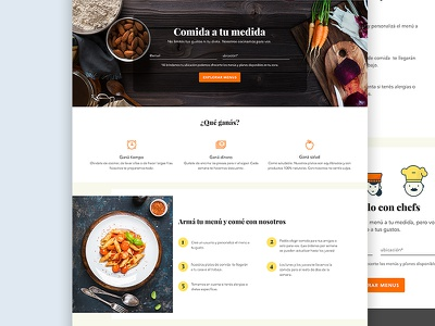Meal Plans Landing Page meal plan layout food iconography illustration ux ui