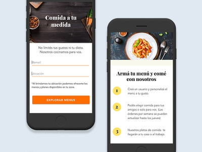 Meal Plans-mobile ecommerce mobile meal plans ui illustration iconography food layout