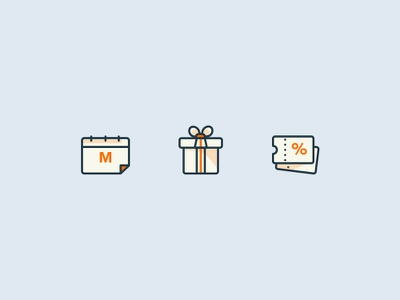 Icons referral discounts meal plans food iconography ui