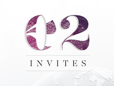 Two Dribbble Invites type invitation giveaway dribbble invites
