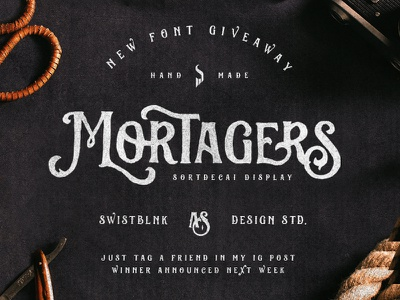 Mortagers Font Giveaway  lettering invite giveaway free font handdrawn typography handlettering rough texture vintage