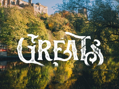Greats - Sortdecai Display vintage texture rough handlettering typography handdrawn font free giveaway invite lettering