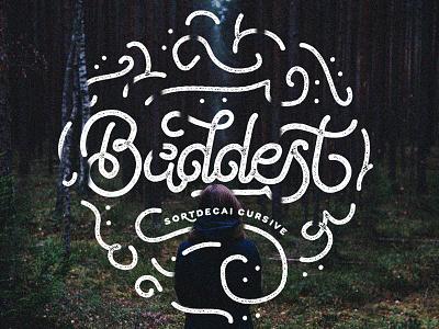 the Baddest Sortdecai Cursive monoline cursive handdrawn typography handlettering lettering handmade vintage