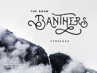 Banthers Typeface hipster opentype typography letterhead swashes modern font handdrawn lettering handlettering handmade