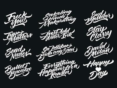 Type Study | 2017 text logo branding design script handmade brushscript letterform brush lettering calligraphy typography