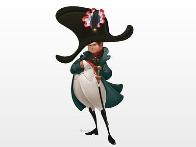 Napoléon Bonaparte illustration concept character