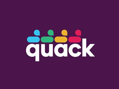 Say quack, new logo joke branding quack duck fun slack logo icon