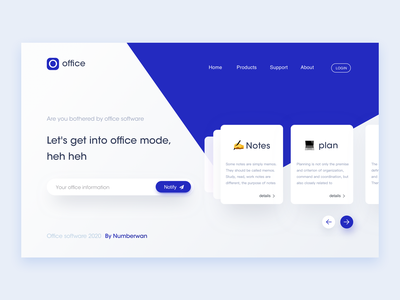 Web office software design company office software office system office platform software typography webapp web clean team management record notes icon app ui business office