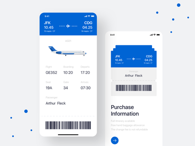 Flight ticket UI design 图标 设计 white ux userinterface ui simple design simple plane minimal flow flight search flights flight booking flight app flight booking aircraft