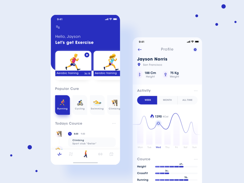 Fitness App interface 极简主义 icons icon activity sport social application social make friends motion 设计 界面 ux ui climbing swimming cycling running exercises app