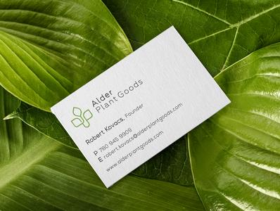 Alder Plant Goods Business Card