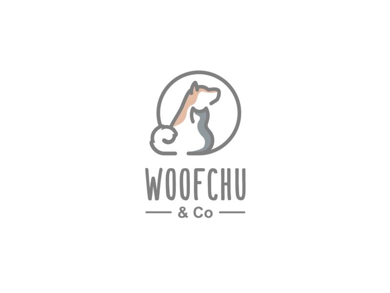 Woofchu Playful Logo Design