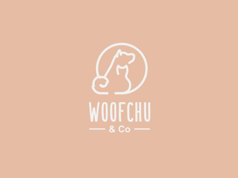 Woofchu Logo Outline Variation
