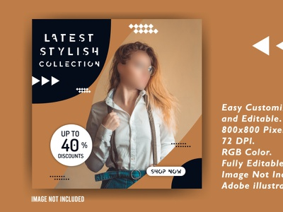 Social Media Ads Banner sell banner offer creative design social media logo creative photoshop background vector illustration flat design