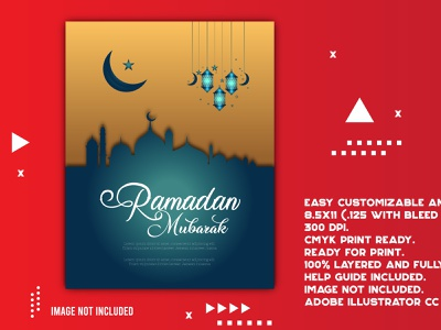 Ramadan Kareem Iftar party creative design social media logo creative photoshop background vector illustration flat design