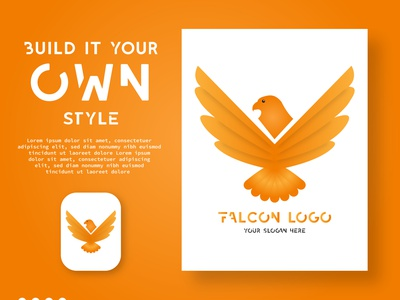 Falcon Logo Design offer creative design social media logo photoshop creative background flat illustration vector design