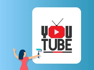 YouTube T-Shirt PNG symbol photoshop creative vector flat background illustration design graphic design branding logo