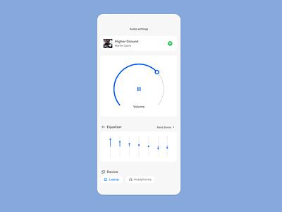 Daily UI 007 -  Settings settings controls music dailyui app ui