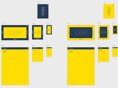 My old portfolio site design xd webui webdesign web