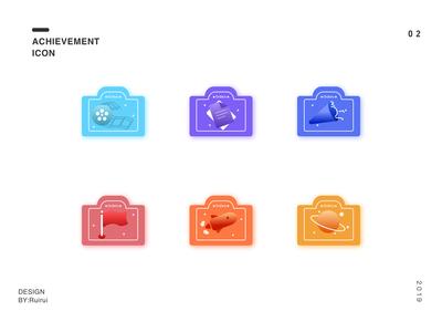 A set of achievement icon