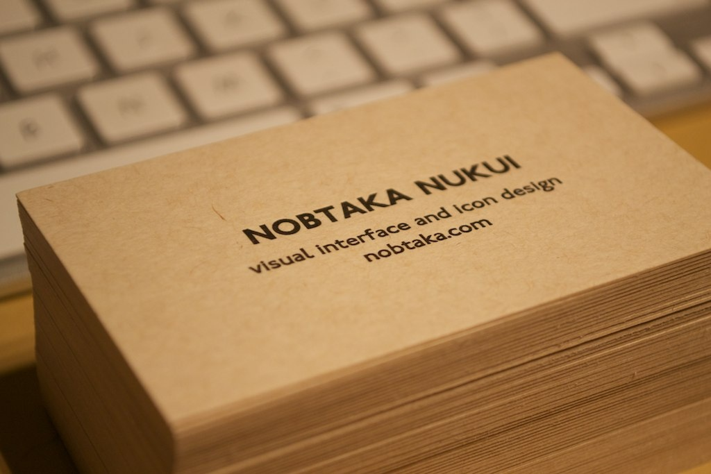 Dribbble - New_personal_business_card.jpg by Nob Nukui