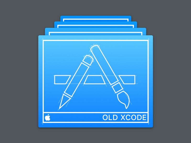 Xcode icon for old versions by Nob Nukui for Super Lucky Boy on Dribbble