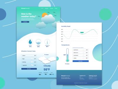 Weather Forecast Website desktop design design weather webdesign weather forecast interfacedesign uidesign